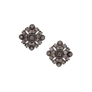 Grey Diamond Earrings in Sterling Silver 0.51ct