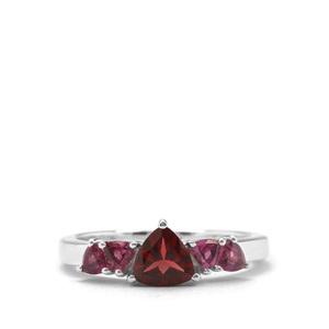 1.39ct Rajasthan & Rhodolite Garnet Sterling Silver Ring
