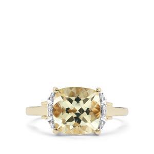 Serenite & Diamond 10K Gold Ring ATGW 2.81cts