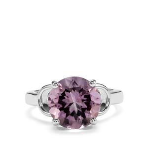 4.58ct Rose De France Amethyst Sterling Silver Ring