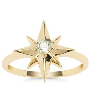 Alexandrite Star Ring in 9K Gold 0.14ct