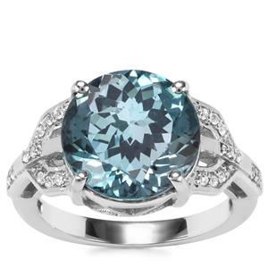 Versailles Topaz Ring with White Topaz in Sterling Silver 7.25cts