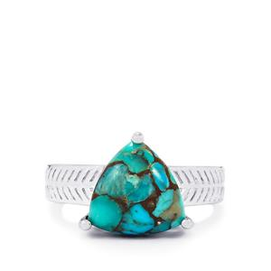Egyptian Turquoise Ring  in Sterling Silver 4.62cts