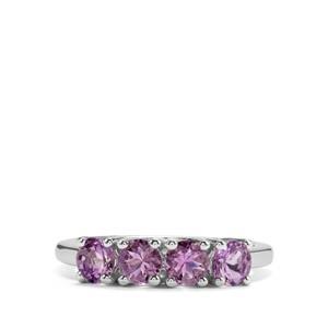 1.13ct Rose du Maroc Amethyst Sterling Silver Ring