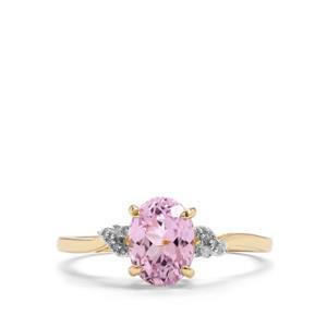 Mawi Kunzite & Diamond 9K Gold Ring ATGW 1.75cts