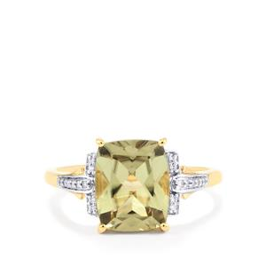 Csarite® & Diamond 18K Gold Ring MTGW 3.61cts