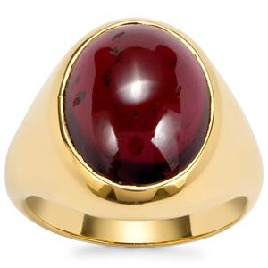 Octavian Garnet Ring in Gold Plated Sterling Silver 10.49cts