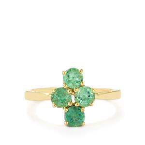 1.25ct Zambian Emerald 9K Gold Ring