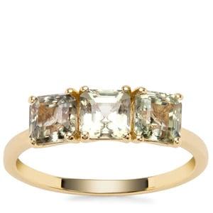 Asscher Cut Csarite® Ring in 9K Gold 2.30cts