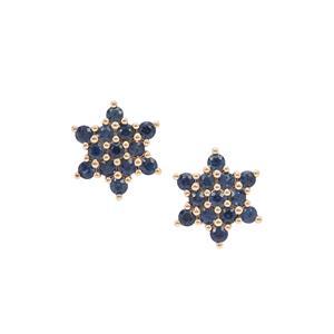 1.05ct Australian Blue Sapphire 9K Gold Earrings