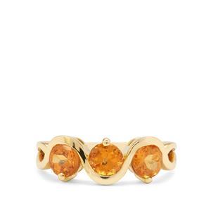 1.95ct Mandarin Garnet 9K Gold Ring