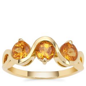 Mandarin Garnet Ring in 9K Gold 1.95cts