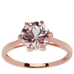 2.36ct Kunzite 9K Rose Gold Ring