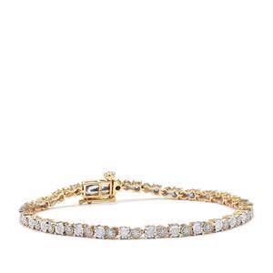 Diamond Bracelet in 9K Gold 1ct