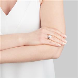 Diamond Ring in 10k White Gold 0.75ct