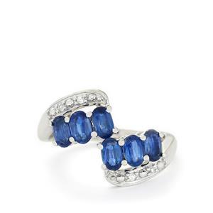 Sundar Kyanite & White Topaz Sterling Silver Ring ATGW 1.87cts