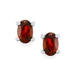 1.18ct Rhodolite Garnet Sterling Silver Earrings