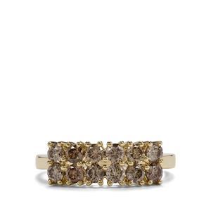 1ct Argyle Diamond 9K Gold Tomas Rae Ring