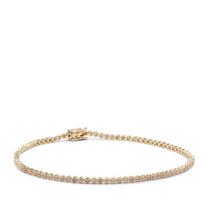 1.04ct Champagne Diamond 9K Gold Bracelet