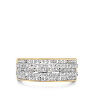 1.05ct Argyle Diamond 9K Gold Ring