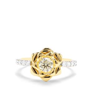 3/4ct Natural Yellow & White Diamond 18K Gold Tomas Rae Ring