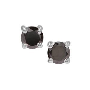 Black Diamond Earrings in Sterling Silver 0.56ct