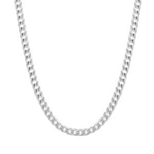 """18"""" Sterling Silver Diamond Cut Miami Chain 4.58g"""