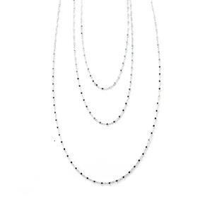 Sterling Silver 3 Strand Layered Necklace 8.71g