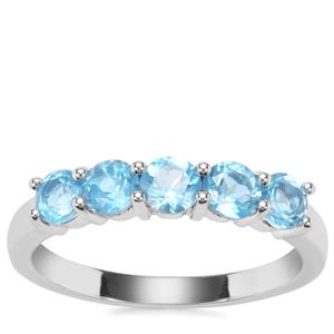 Swiss Blue Topaz Ring in Sterling Silver 1.29cts