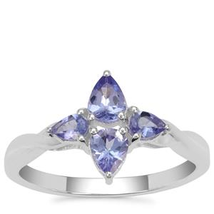 Tanzanite Ring in Sterling Silver 0.80ct