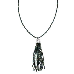 Mystic Spinel Bead Necklace in Sterling Silver 30cts