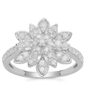 Diamond Ring in 9K White Gold 0.75ct