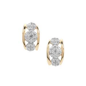 Canadian Diamond Earrings in 9K Gold 0.34ct