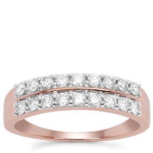 Argyle Diamond Ring in 9K Rose Gold 0.51ct
