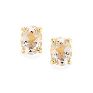 Mutala Morganite Earrings in 9K Gold 2.14cts