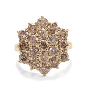 4.15ct Champagne Diamond 9K Gold Tomas Rae Ring