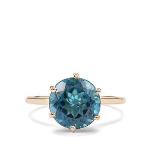 4.67ct Marambaia London Blue Topaz 9K Gold Ring