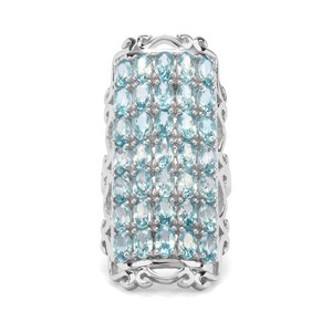 13.61ct Ratanakiri Blue Zircon Sterling Silver Ring