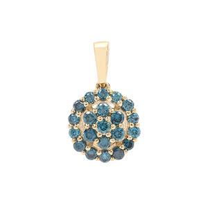 Blue Diamond Pendant in 9K Gold 0.50ct