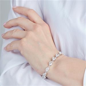 17.47ct Singida Tanzanian Zircon Sterling Silver Bracelet