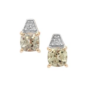 Csarite® Earrings with Diamond in 9K Gold 1.20cts