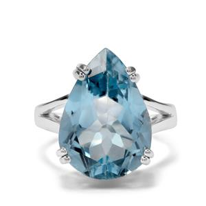 13.50ct Sky Blue Topaz Sterling Silver Aryonna Ring