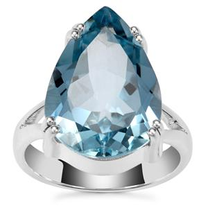 Sky Blue Topaz Ring in Sterling Silver 13.50cts