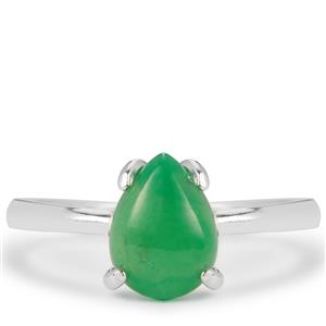 Chrysoprase Ring in Sterling Silver 1cts