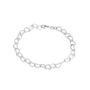 Rhodium Plated Sterling Silver Altro Bracelet 3.25g