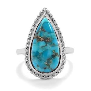 Bonita Blue Turquoise Ring in Sterling Silver 7.50cts