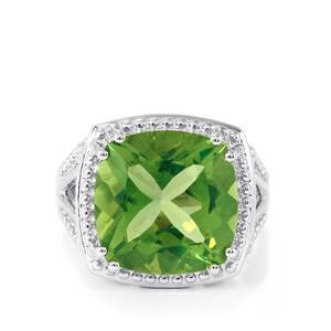 9.54ct Fern Green Quartz Sterling Silver Ring