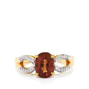 Colour Change Garnet & Diamond 18K Gold Tomas Rae Ring MTGW 2.57cts