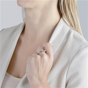 Ultraviolet Color Change Garnet Ring in 10k White Gold 1cts