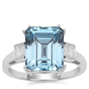 Versailles Topaz Ring with White Zircon in Sterling Silver 5.86cts